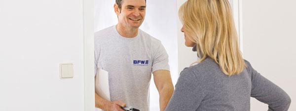 BFW Ritter Online-Service Anmeldung Kontrollablesung